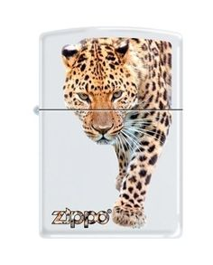 Zippo leopard And Zippo Logo White Matte Lighter, 6289 from Picsity.com