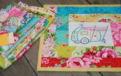 Cute mix of embroidery and quilting, love this camper pattern