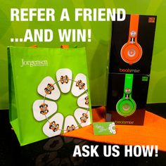 """To reward those of you who send new patients our way, we have started our """"emBRACE the Beats"""" contest. You can earn an entry to win a pair of Limited Edition """"beatsmixr"""" head phones for EVERY NEW PATIENT who comes into Jorgensen Orthodontics for a free consultation. Call Jorgensen Orthodontics for details. NOTE: You don't have to be a current patient to refer and enter the contest. Contest runs 3/1/14 thru 8/31/14. #JorgensenOrtho #Braces"""