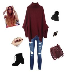 """Untitled #31"" by cvorak90 ❤ liked on Polyvore featuring J Brand, Olivia Burton and Black"