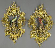 Pr. Louis XV style bronze-dore and porcelain : Lot 125