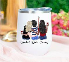 3 Best Friends, Best Friend Mug, Friend Birthday Gifts, Best Friend Gifts, Gifts For Friends, Friend Mugs, Graduation Gifts For Sister, Personalized Graduation Gifts, Personalized Tumblers