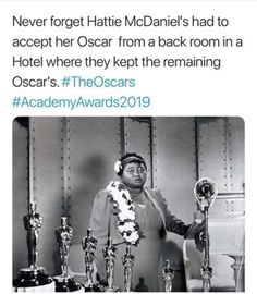 That's so crazy . land of the Free smh. RP from - It was in became the first black Oscars… That's so crazy . land of the Free smh. RP from - It was in became the first black Oscars… Black History Facts, Black History Month, The More You Know, Interesting History, Faith In Humanity, African American History, Women In History, Fun Facts, Knowledge