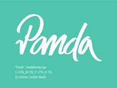 """""""Panda"""" Handlettering Logo on Behance"""