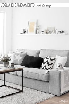 Luxury Furniture, Living Room Ideas, Home Furniture, Contemporary Furniture,Cont. - Ikea DIY - The best IKEA hacks all in one place Living Pequeños, Nordic Living Room, Living Room White, Home Living Room, Living Room Designs, Living Room Decor, Clean Living, Living Spaces, Luxury Furniture
