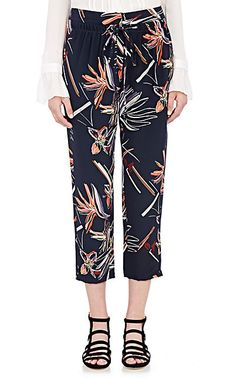 Maiyet Silk Drawstring Slouch Pants - Cropped - 504296643