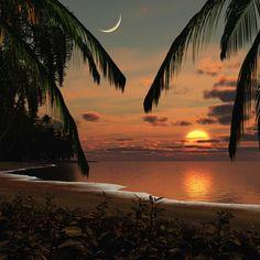 Der Sonnenuntergang ist ein tolles Erlebnis
