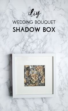 Make a modern wedding bouquet shadow box using an Ikea Ribba frame. A wonderful DIY keepsake for a newlywed couple.