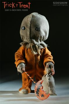 Trick R Treat Sam Vinyl Figure :: Toys :: House of Mysterious Secrets - Specializing in Horror Merchandise & Collectibles Scary Halloween Decorations, Spirit Halloween, Holidays Halloween, Vintage Halloween, Halloween Crafts, Trick Or Treat Movie, Trick Or Treat Sam, Adornos Halloween, Living Dead Dolls