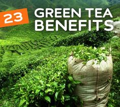 23 Benefits of Green Tea- for your health, skin, weight loss, detox, disease prevention and so much more. If your not drinking green tea, read this to see why you should.