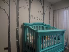 Trees, Forest, Wall Decal For Baby Room, Nursery Or Living Room