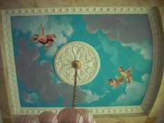 Ceiling Mural Sky with Cherubs Pictures and Photos