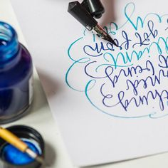 Calligraphy Styles, pointed pen lettering by Kirsten Burke