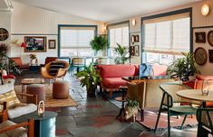 Local New England creatives come together to deliver a distilled hospitality experience with decadent retro design at The Wayfinder...