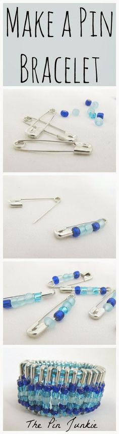 How to make a beaded pin bracelet.