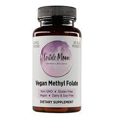 Amazon.com: Vegan Methyl Folate by Fertile Moon® - New and Improved Capsule - Featuring Quatrefolic® - 400 mcg per Capsule - 60 Capsules per Bottle - Non-GMO, No Gluten, Dairy, or Soy: Health & Personal Care