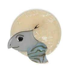A Swimming Solo Turtle brooch by Erstwilder! This little baby sea turtle is just emerging from his egg. Free Base, Acrylic Resin, Resin Jewelry, Jewellery, Keepsake Boxes, Turtle, Mermaid, Swimming, Hand Painted