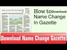 How to download Name/Dob/Religion Change in Gazette    Tech Fest