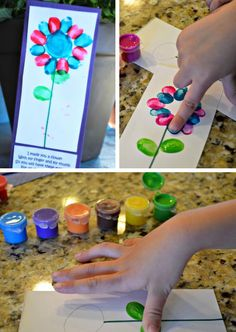 Finger print flower and poem easy mothers day cards for kids Mothers Day Crafts For Kids, Fathers Day Crafts, Mothers Day Cards, Mother Day Gifts, Diy Mother's Day Crafts, Mother's Day Diy, Holiday Crafts, Diy Christmas, Mother's Day Projects