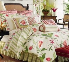 Beautiful Bed with lots and lots of pillows!