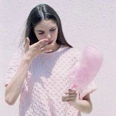 sweater and cotton candy