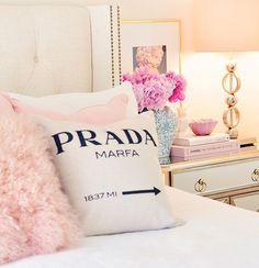 Sunday morning Prada #marfa pillow from @compositionlane use code CERES10 for a discount on their site http://liketk.it/2oF06 #liketkit @liketoknow.it