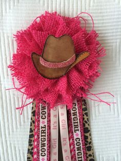 Cowgirl / Western Baby Shower Corsage This corsage makes a great gift for the Mommy to Be. Goes great with any Western, Cowgirl Baby Shower themed
