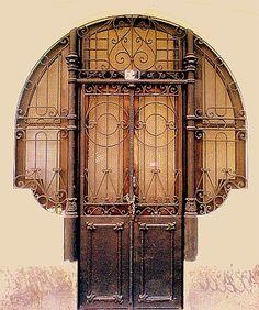 Grilled Door