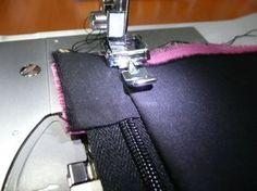 Tuto de la trousse doublée, zippée et à jolis angles