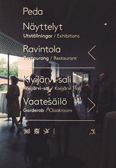 Wayfinding project of Serlachius Museum (Finland). Project of Petit Comite Design studio of Barcelona.