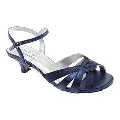 The Jane is the pinnacle of evening elegance with some fun appeal. This peep toe dress sandal has flirty glitter detailing and a low heel for added comfort. It even has an ankle strap for a secure fit. Girls Sandals, Dress Sandals, Ankle Strap Sandals, Shoes Sandals, Women's Flats, Patent Heels, Kid Shoes, Low Heels, Mother Of The Bride