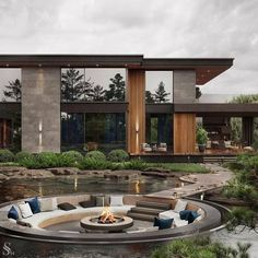 Modern House Facades, Modern Architecture House, Modern House Design, Interior Architecture, Luxury Interior, Dream House Interior, Luxury Homes Dream Houses, Dream Home Design, Dream Homes