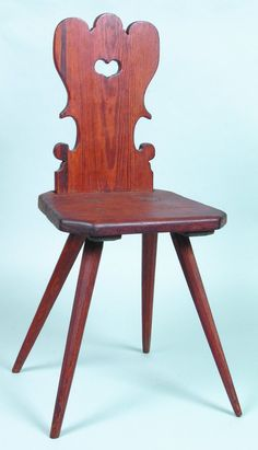 CHAPTER 14: A moravian chair is a chair with a heart-shaped opening carved through the back.