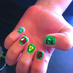 Legend of Zelda Nails arts #Zelda #nails #geek