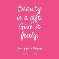 """#MondayMotivation: Beauty is a gift. Give it freely. #BeautyforaPurpose"""