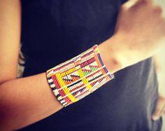 Maasai roll-up bracelet Zulu bracelet bead bracelet African