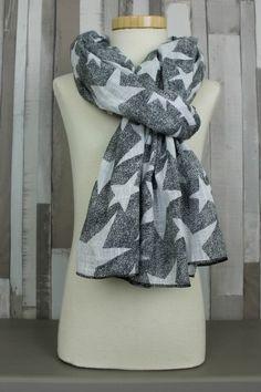 shawl sterren zwart