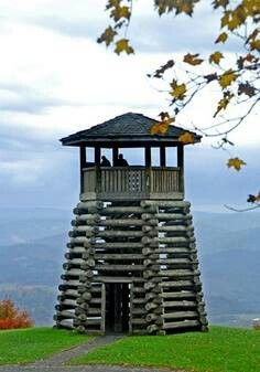 Lookout tower, WV!!! Climbed it and carved my initials :)