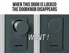 Hidden doorknob