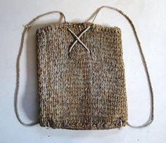 Japanese Vintage Mingei Craft Sakiori Backpack Basket