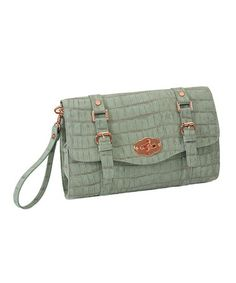 Take a look at this Mint La Vie en Rose Convertible Clutch by 33RD & MAD. on #zulily today!