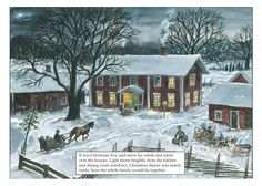 Festive scene from Swedish writer Sven Nordqvist's Christmas picture book 'The Tomtes' Christmas Porridge'. The tomtes fear they won't get their annual bowl of Christmas rice pudding, so they take matters into their own hands. Nordic Art, Scandinavian Art, Dream Pictures, Winter House, Christmas Inspiration, Christmas Ideas, Merry Christmas, Cartoon Art, Sweden