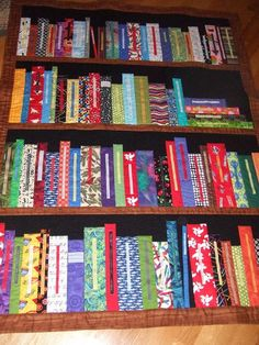 Bookshelf Quilt for a retiring school librarian and inspired by a quilt made by jess at urban. Description from pinterest.com. I searched for this on bing.com/images