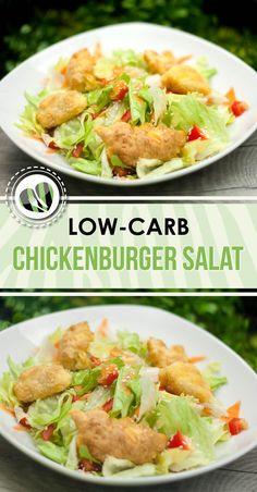 The pimped chickenburger salad is low-carb, tasty and filling. The sauce consists of a low-carb sweet and sour sauce The pimped chickenburger salad is low-carb, tasty and filling. The sauce consists of a low-carb sweet and sour sauce Salad Recipes Healthy Lunch, Salad Recipes For Dinner, Chicken Salad Recipes, Easy Salads, Easy Healthy Recipes, Low Carb Recipes, Diet Recipes, Easy Meals, Salad Chicken