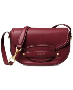 2336200a9272 Michael Kors Cary Leather Saddle Crossbody & Reviews - Handbags &  Accessories - Macy's