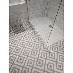 Cement Tile Effect Sheet Vinyl Flooring Kitchen & Bathroom Lino Roll Quartz Grey - pickndecor/home Best Vinyl Flooring, Vinyl Flooring Bathroom, Vinyl Tiles, Bathroom Lino Floor, Modern Bathroom Design, Contemporary Bathrooms, Bathroom Interior Design, Pinterest Bathroom, Bathroom Styling