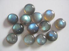 Lot de superbes 25 pièces Labradorite Cabochon 4 mm rond calibré pierres précieuses en vrac