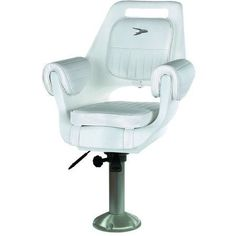 Wise Deluxe Pilot Chair and 15 inch Fixed Pedestal and Slide, White