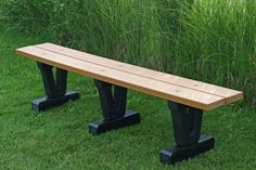 outdoor backless bench