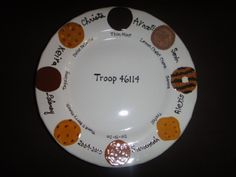 Personalized Girl Scout Troop Plate by potterybypeggy on Etsy, $60.00